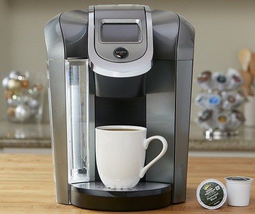 Keurig K575 Coffee Maker Single Serve 2.0 Brewing System On a Table